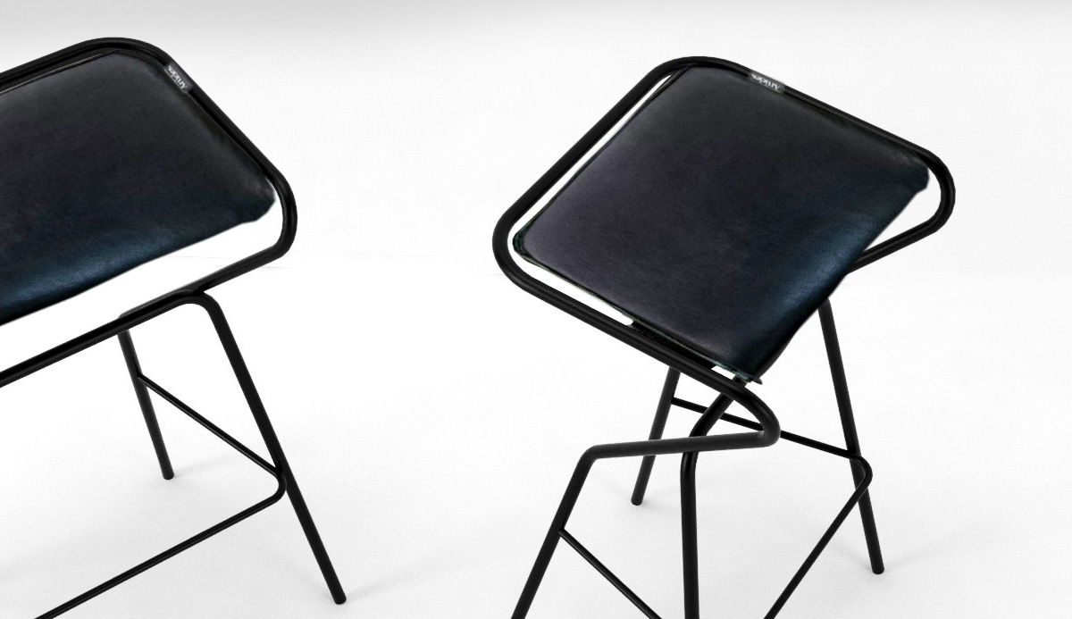 ArkMu stool by Articles. Design Anna von Schewen and Björn Dahlström.